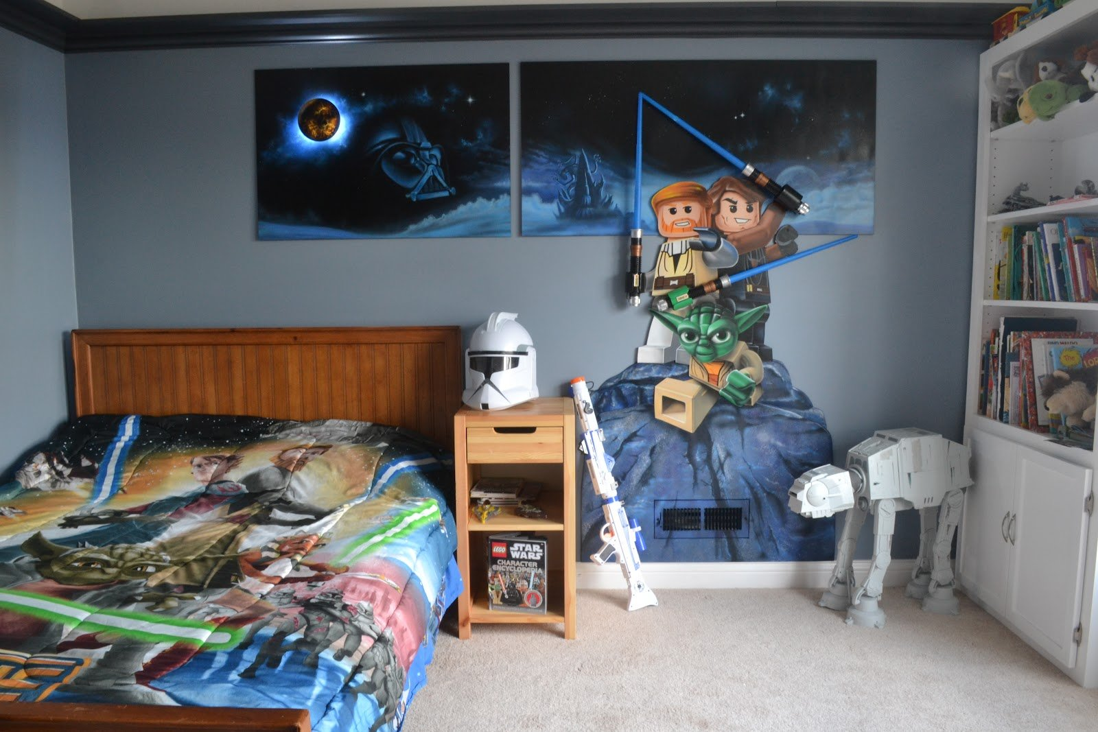 Sanity With Five Kids Lego Star Wars Mural 1600x1067