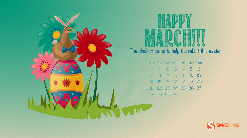 Download Smashing Magazine Desktop Wallpaper Calendar March 2016 1000x562
