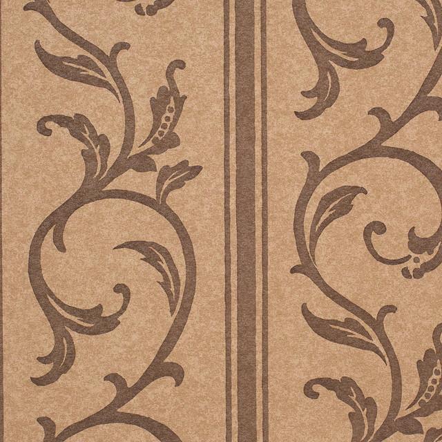 Mocha Brown Chocolate Brown Vine Accent Arcadia Wallpaper 640x640
