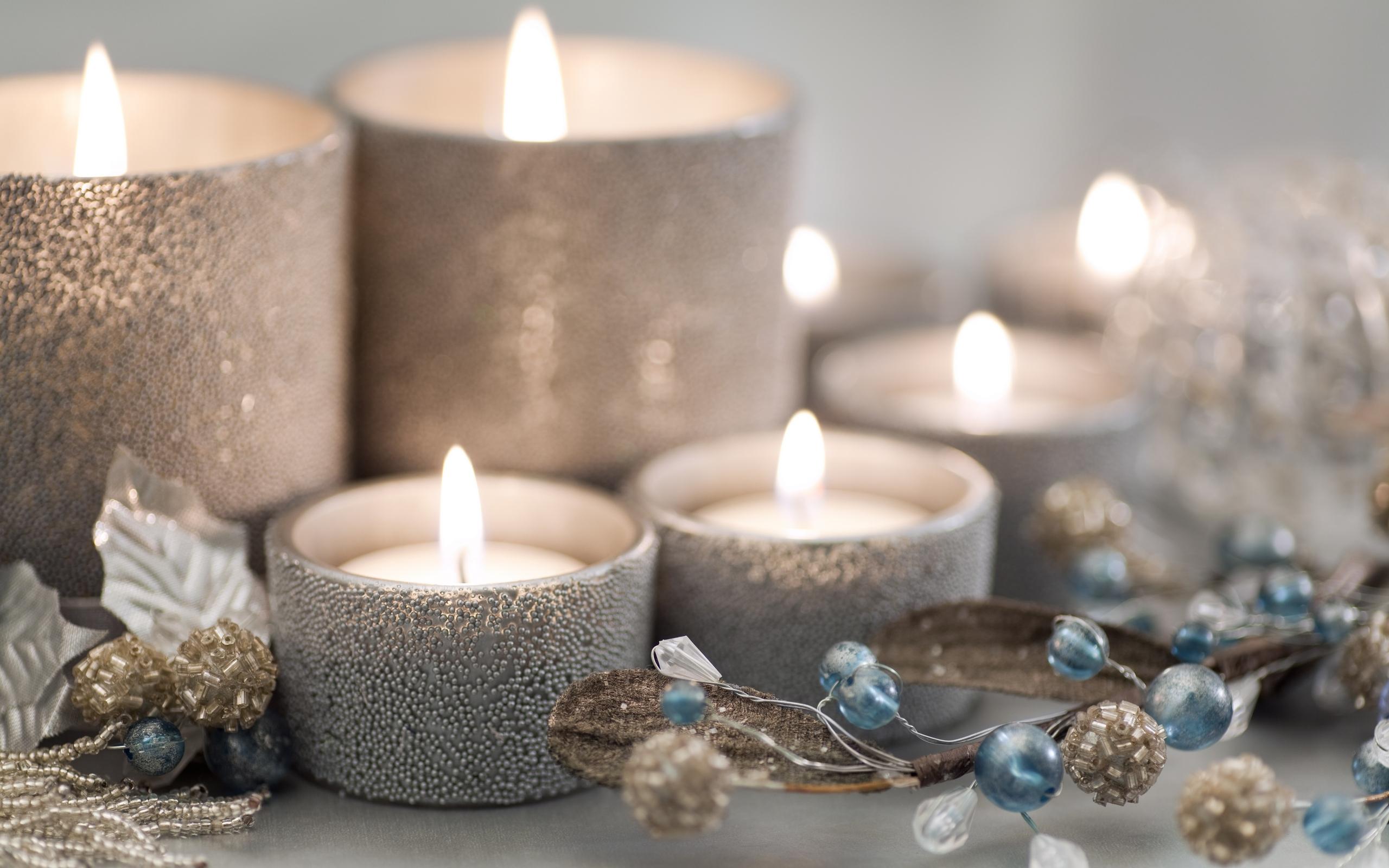 Christmas Wallpaper Lights And Candles Wallpapersafari
