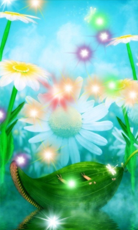 Daisy Fantasy Land Live Wallpaper App to your Android phone or tablet 480x800