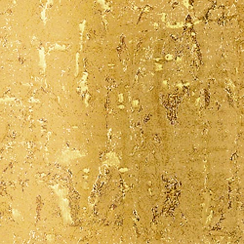 real natural cork Wallpaper wall coverings white gold metallic nature covering