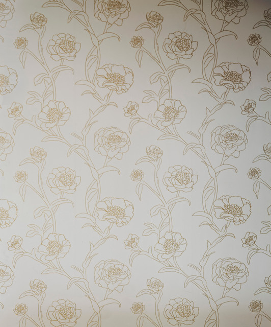 Removable Wallpaper Gold Leaf   Contemporary   Wallpaper   by 532x640