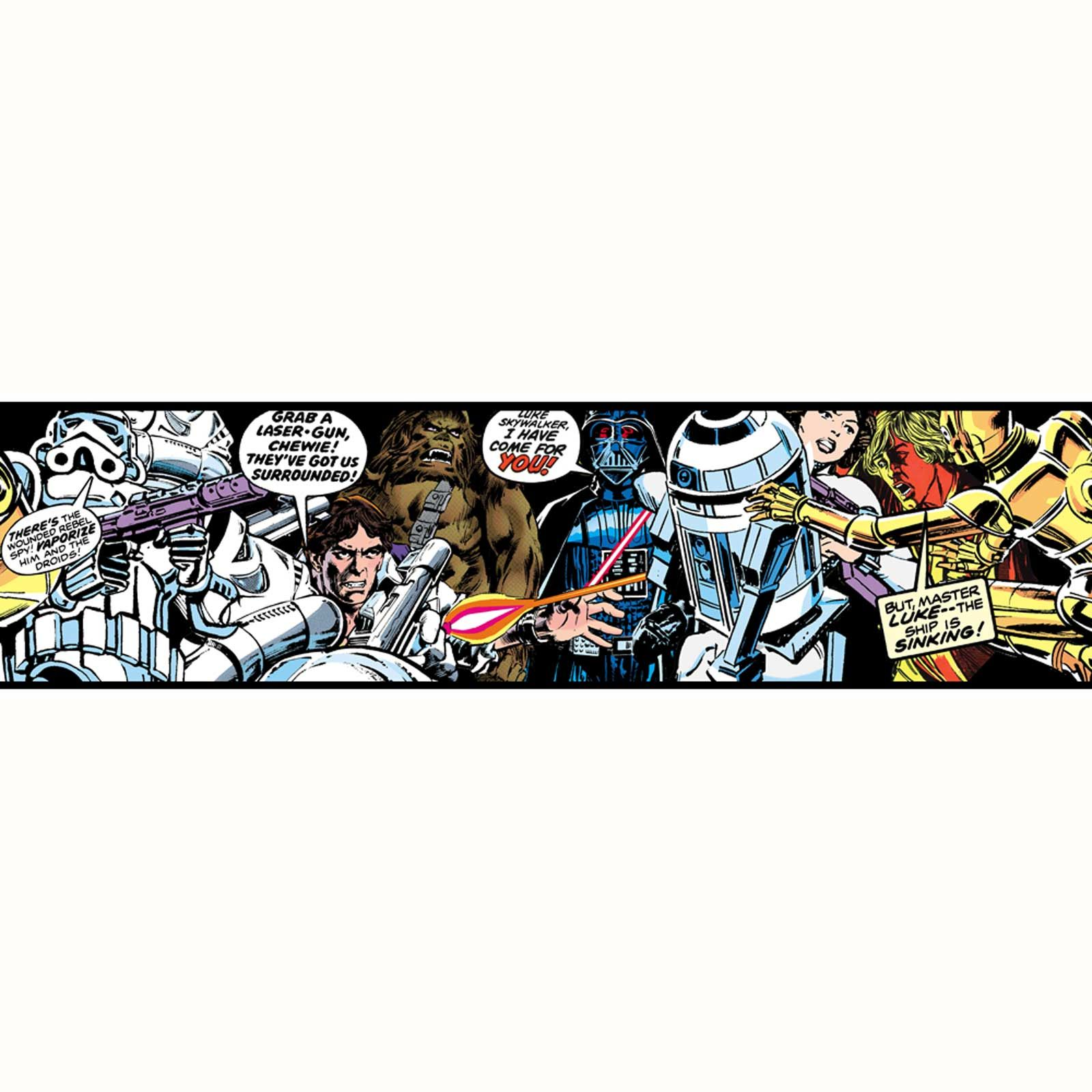 STAR WARS WALLPAPER AND BORDERS CHILDRENS BEDROOM DECOR OFFICIAL 1600x1600