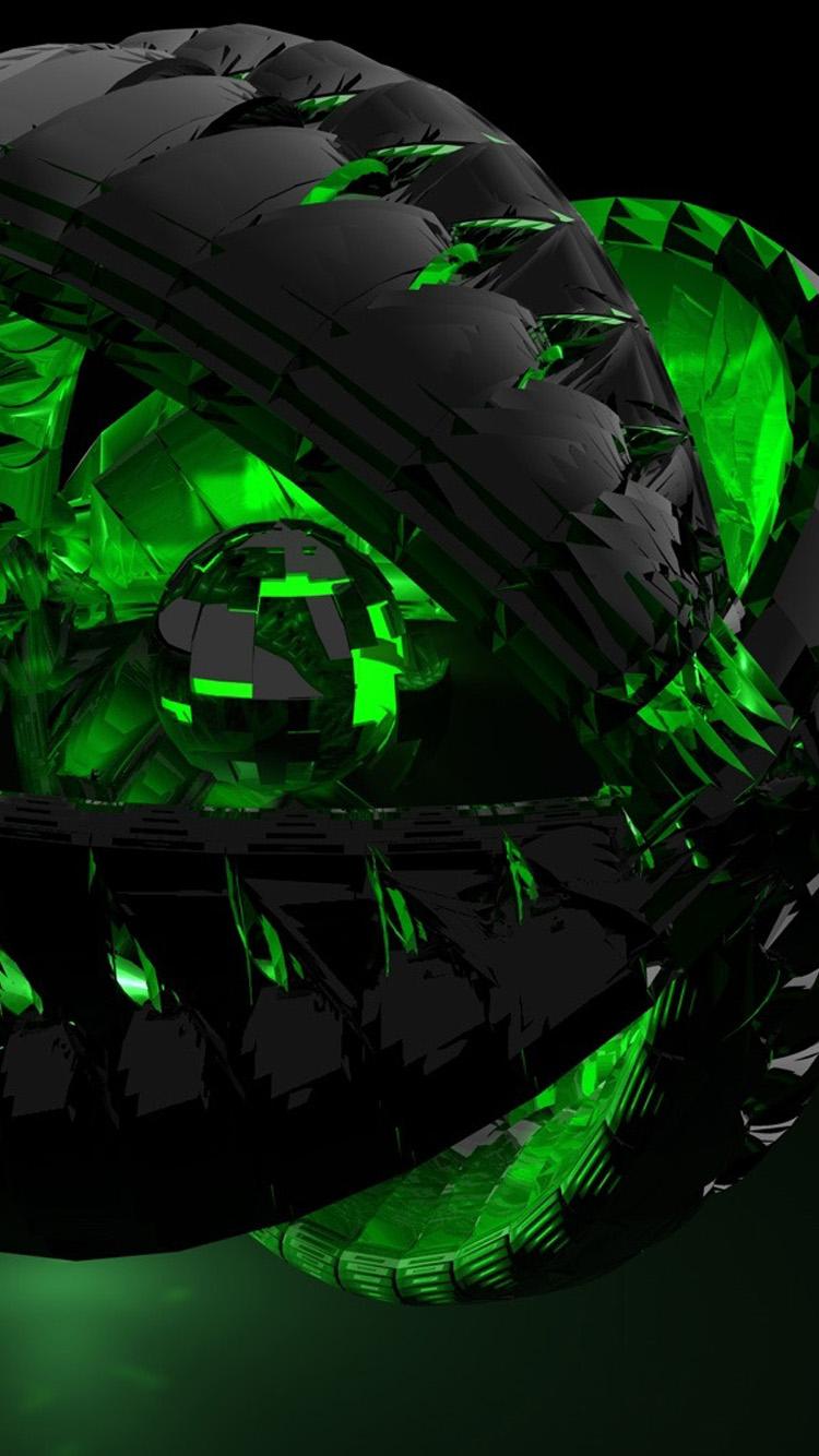 49 green and black iphone wallpaper on wallpapersafari - Black wallpaper iphone 6 hd ...