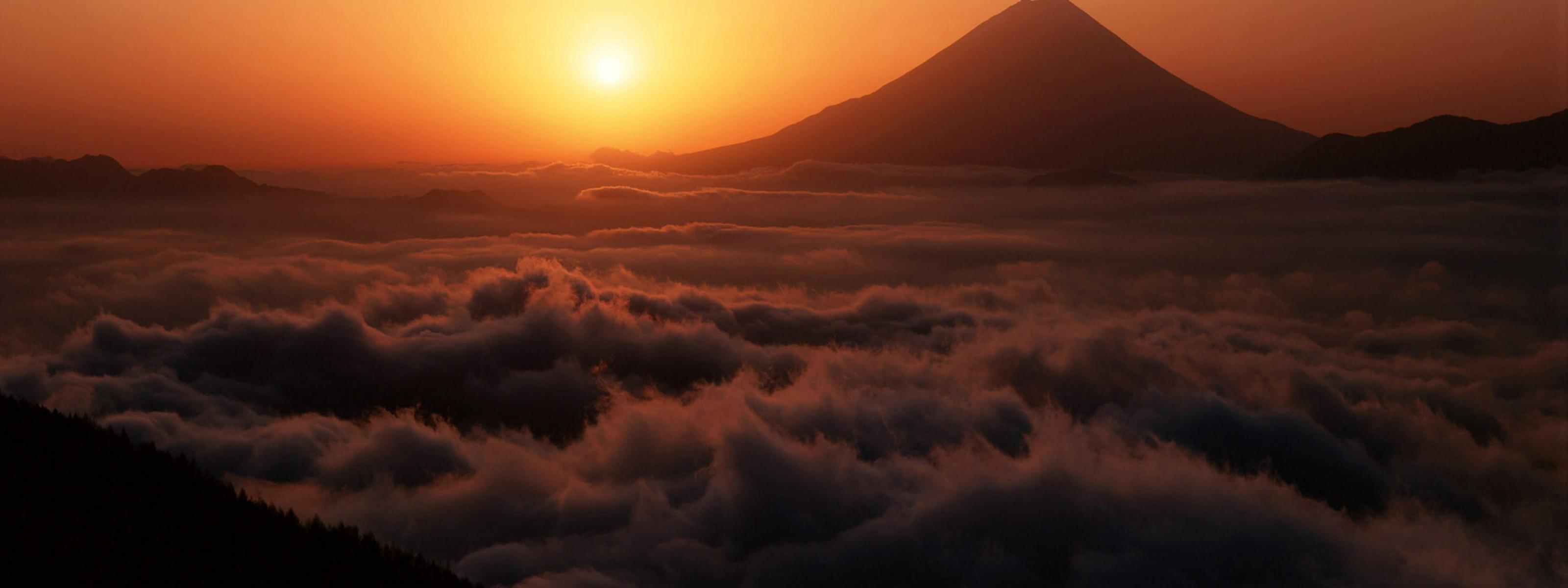 Red Cloudy Sunset [3200x1200] iimgurcom 3200x1200