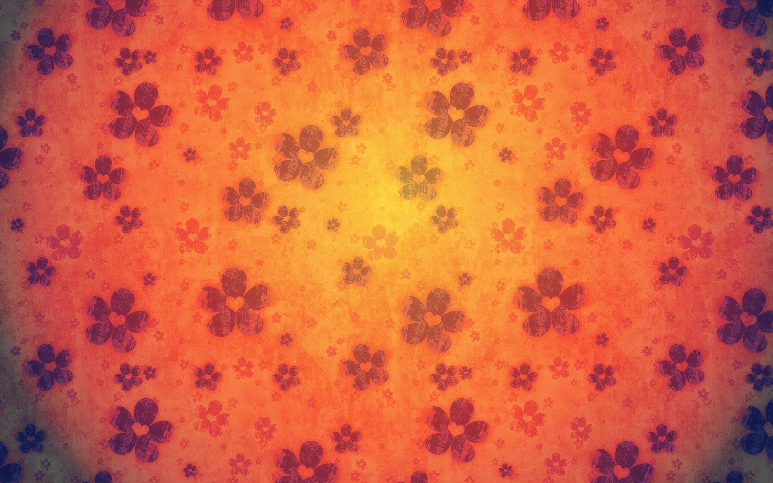 Orange Flowers Pattern Wallpaper 2560X1600 World Wallpaper Collection 2560x1600