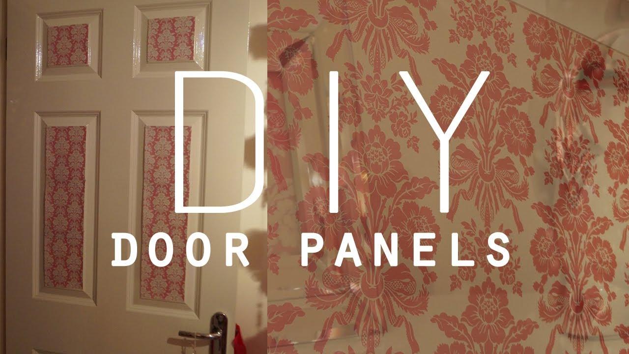 DIY Room Decorations Wallpaper door panels 1280x720