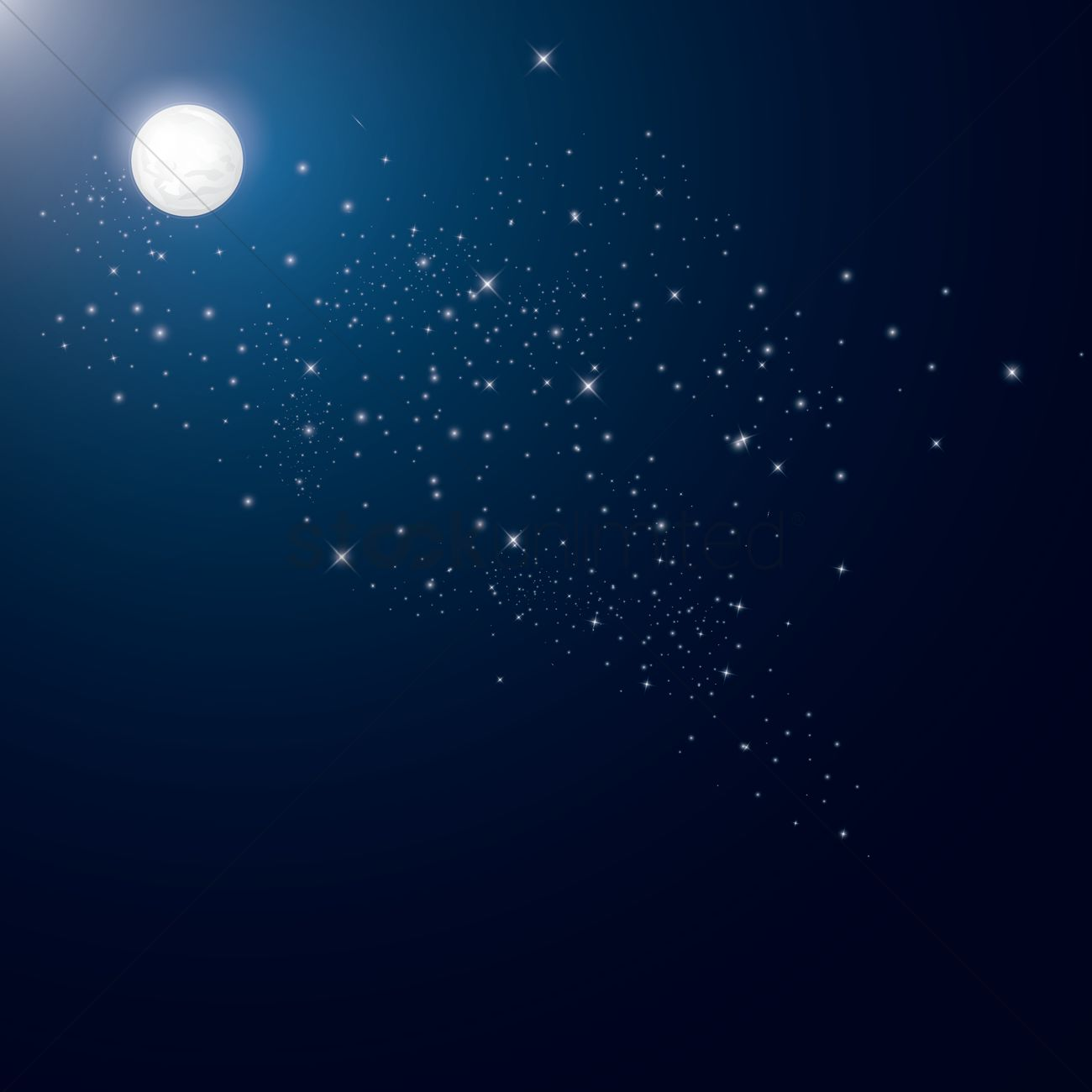 Full moon and stars background Vector Image   1519164 StockUnlimited 1300x1300