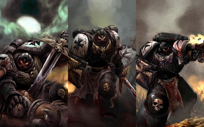 black warhammer 40k space marine templars 1680x1050 wallpaper Aircraft 800x500