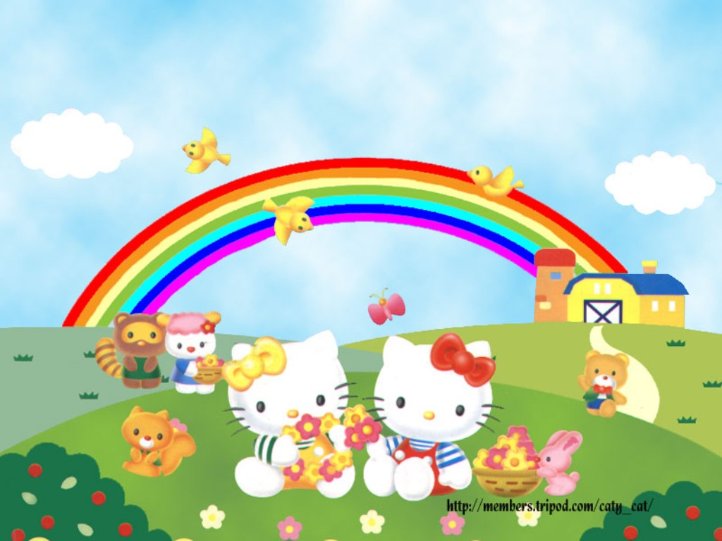 Spring Hello Kitty HD Wallpaper - WallpaperSafari