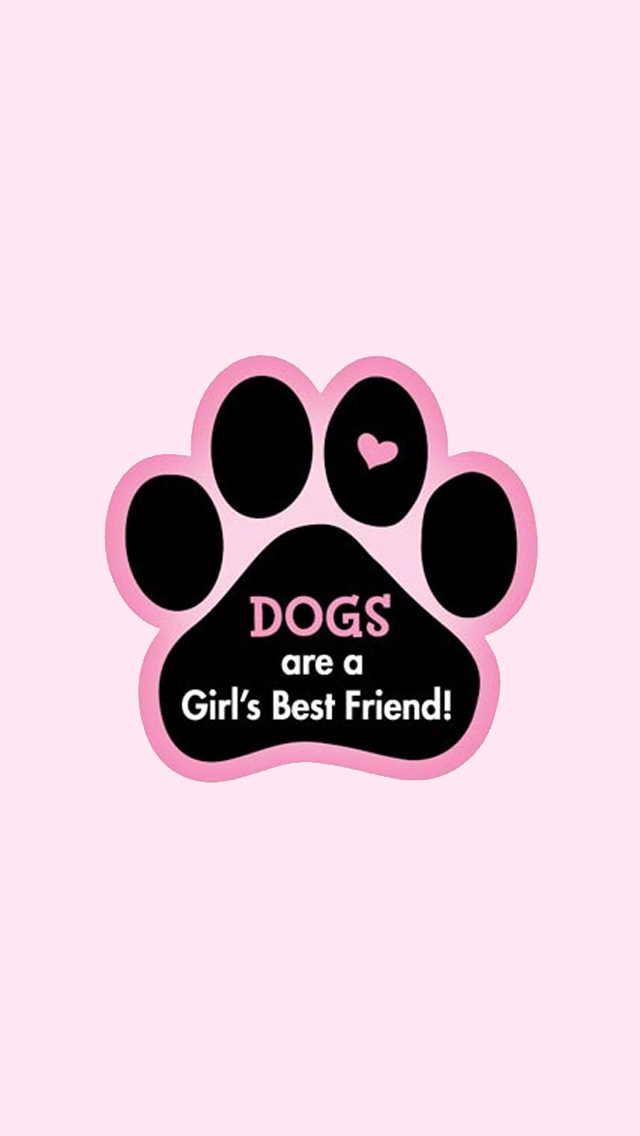 Dogs Are a Girls Best Friend iPhone 5 Wallpaper (640x1136)