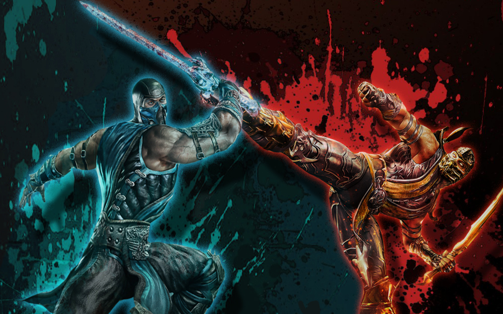 Free Download Kombat Sub Zero Vs Scorpion Wallpaper Sub Zero