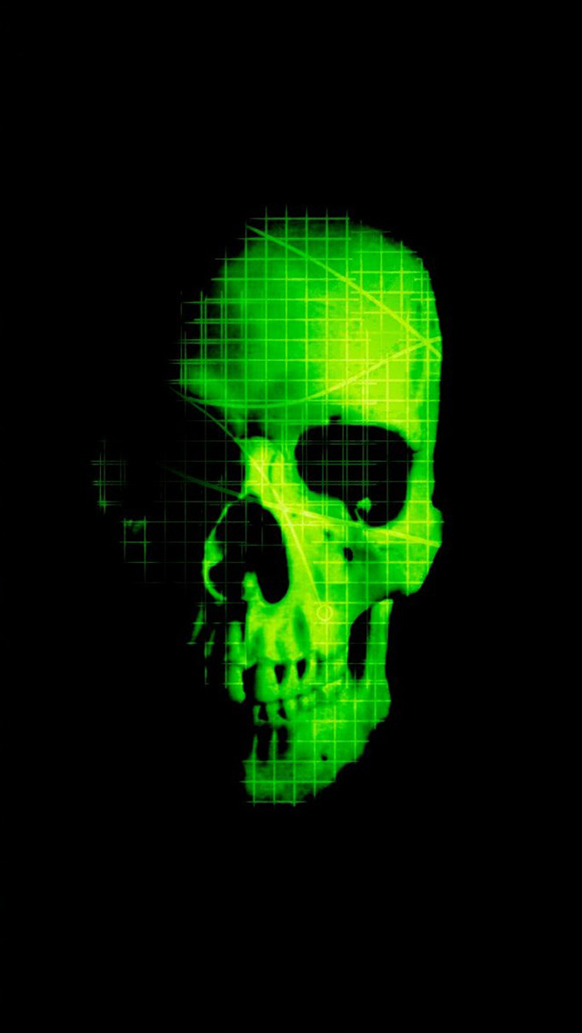 Green Skull iPhone 5 wallpapers Background and Wallpapers 640x1136