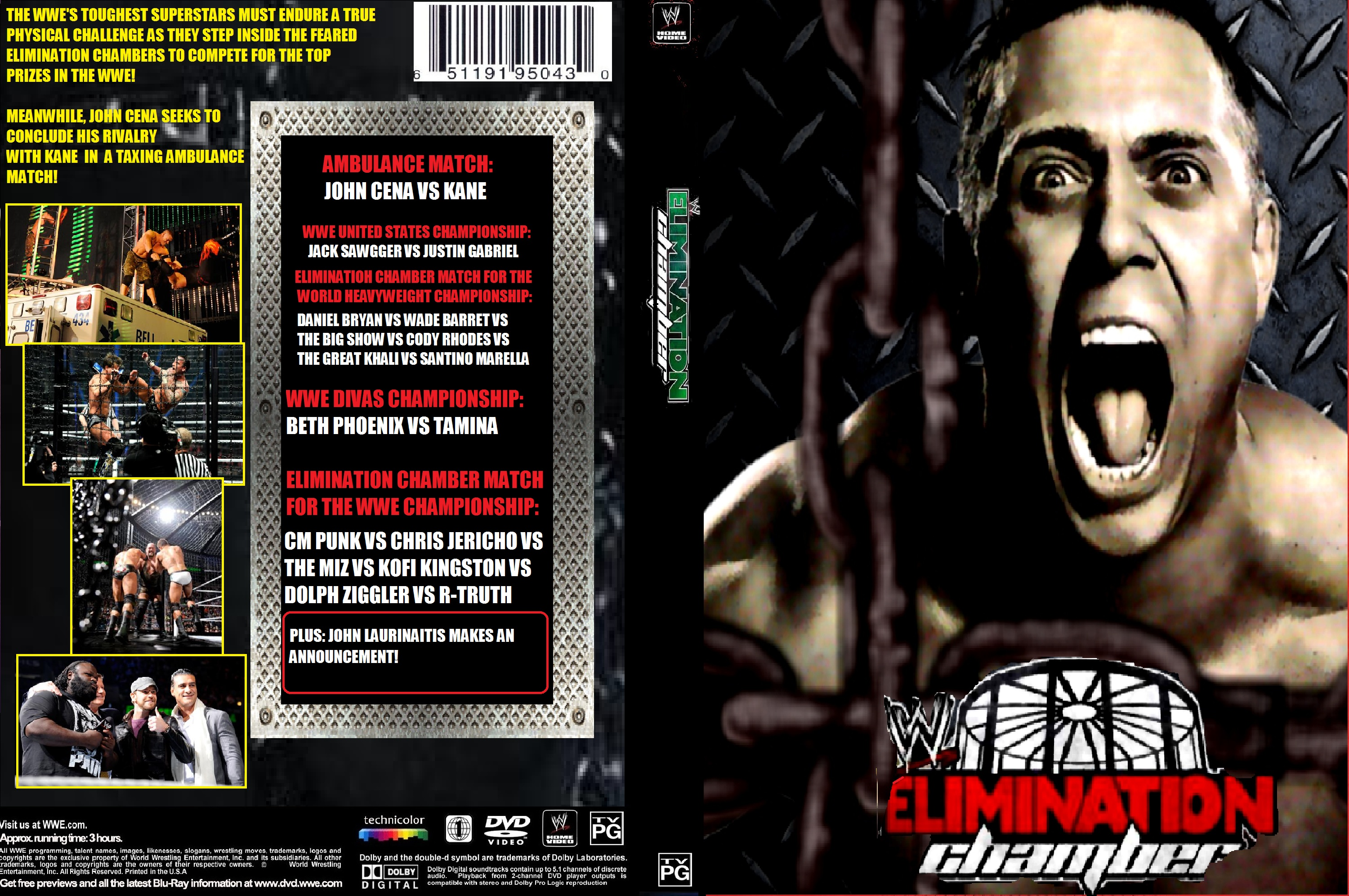 WWE Elimination Chamber 2012 by ZT4 3000x1992