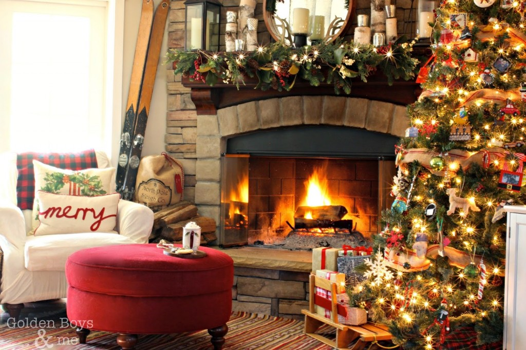 Christmas Fireplace Wallpapers High Quality Download 1024x682