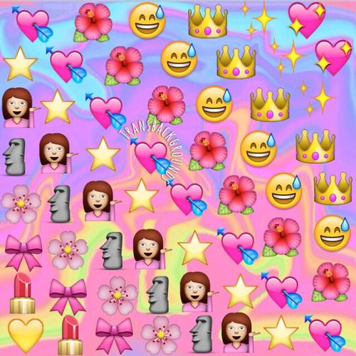 Emoji Wallpapers Girly - WallpaperSafari