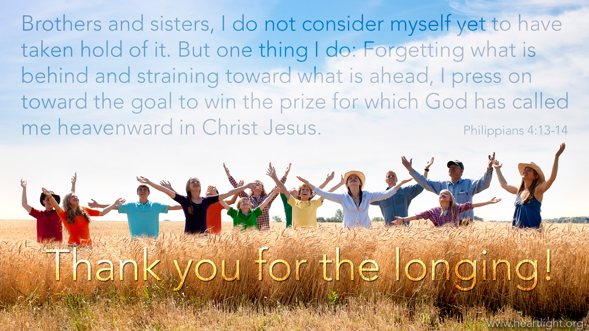 Thank You for the Longing PowerPoint Background of Philippians 1920x1080