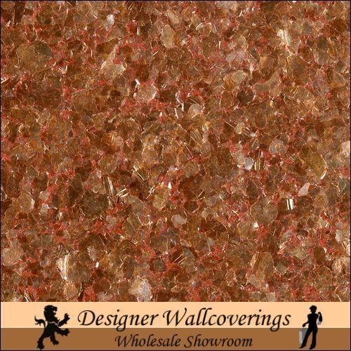 Hiya Mica   Copper [FXX   3215] Designer Wallcoverings 500x500