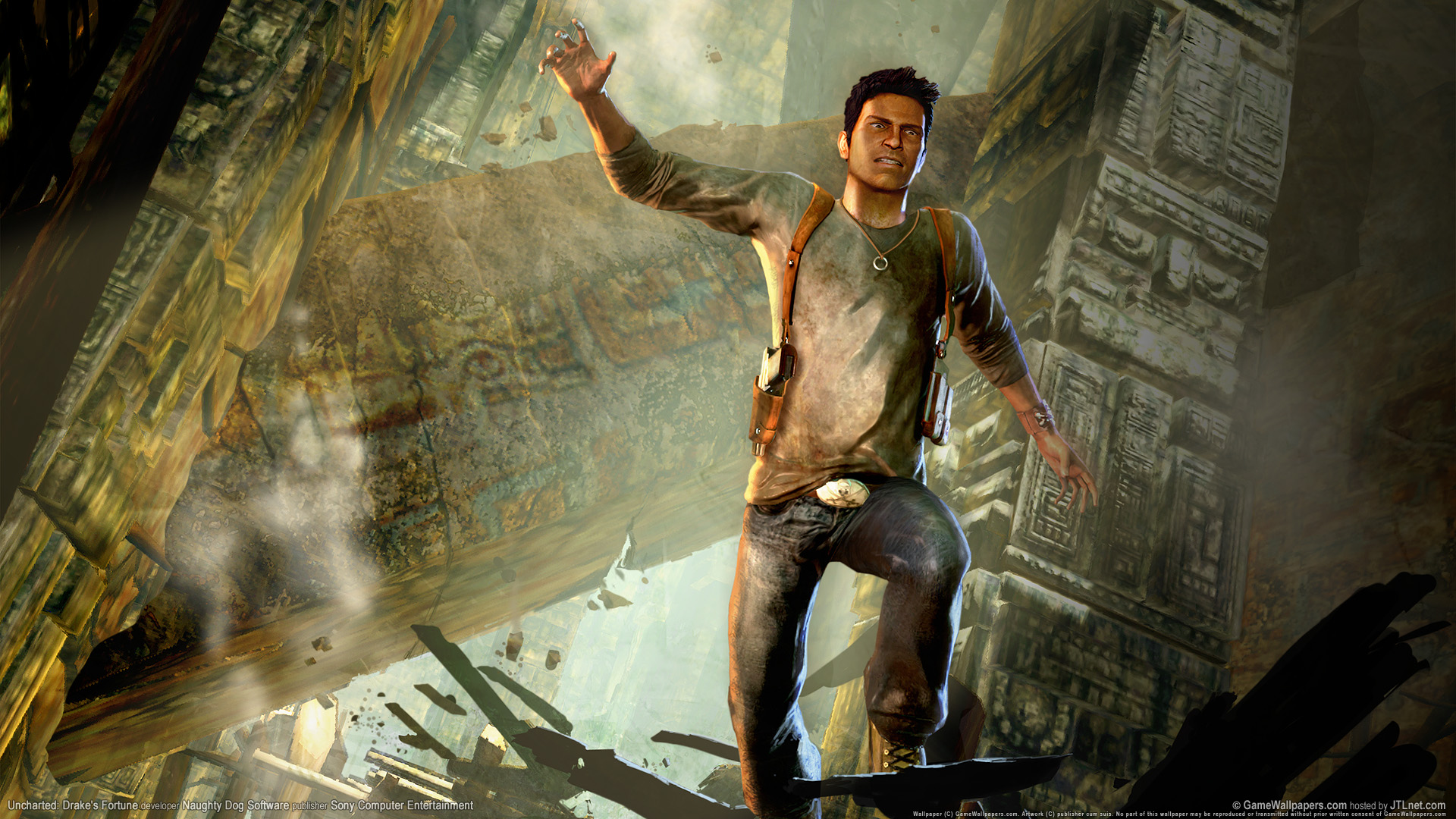 Free Download Nathan Drake Uncharted 1 Hot Girls Wallpaper