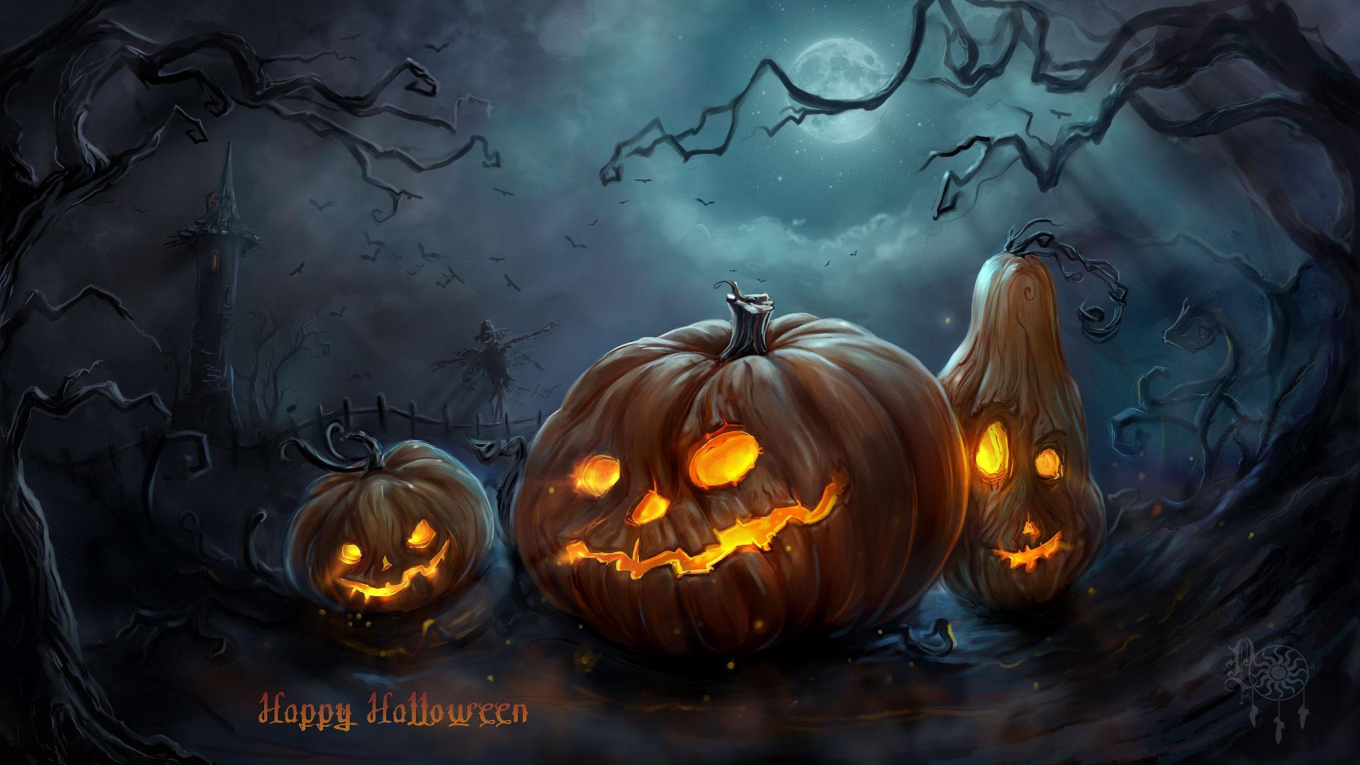 pumpkins Wallpaper HD1 Scary Halloween Backgrounds Wallpaper 1920x1080
