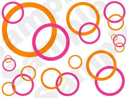 blue pink brown black Circle Bubble Pink Orange Orange Circle 500x386
