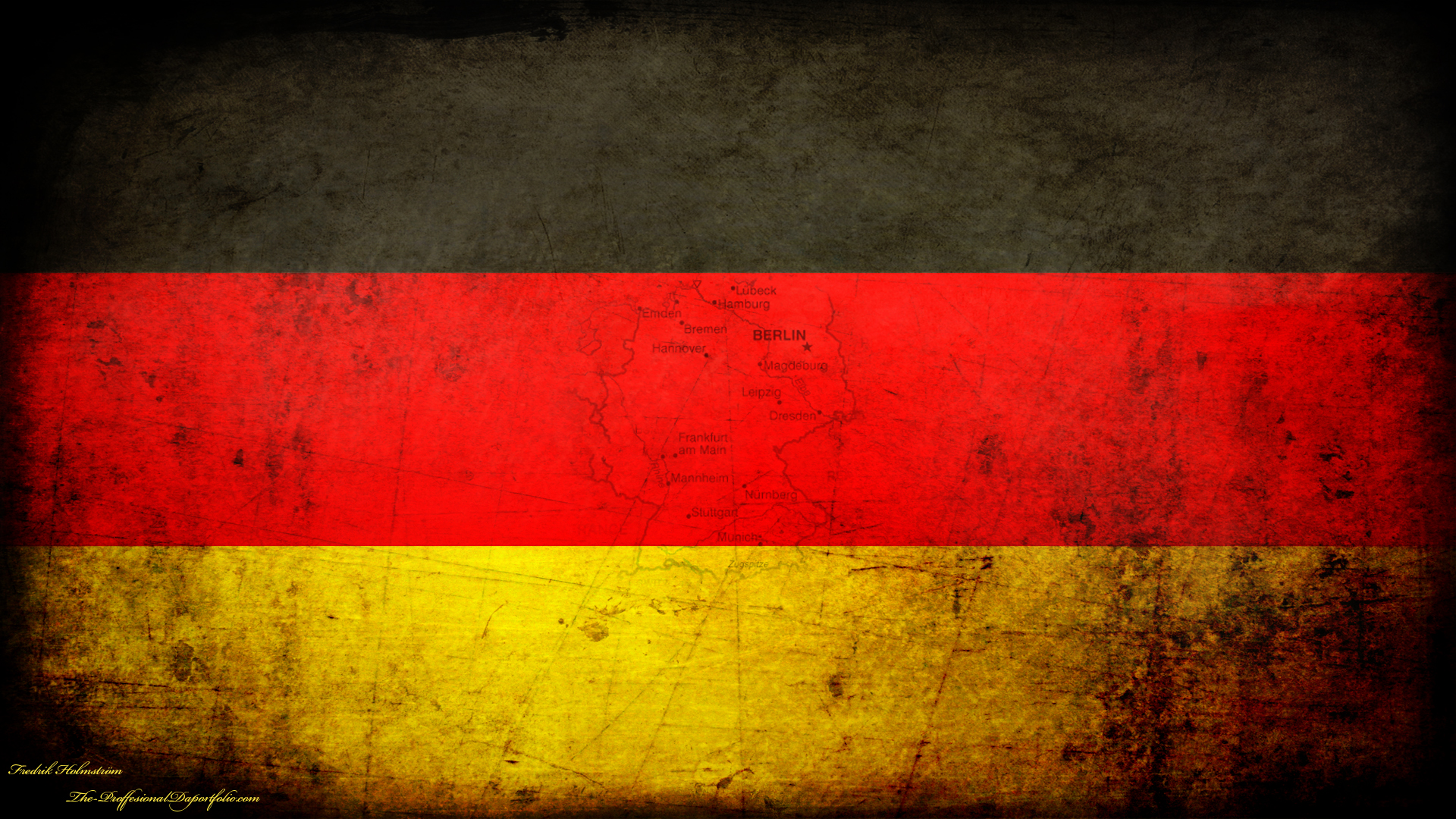 German flag grunge wallpaper by The proffesional 1920x1080