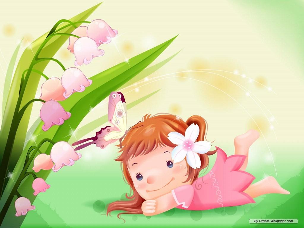 Wallpaper   Cartoon wallpaper   Vector childhood 1 wallpaper 1024x768