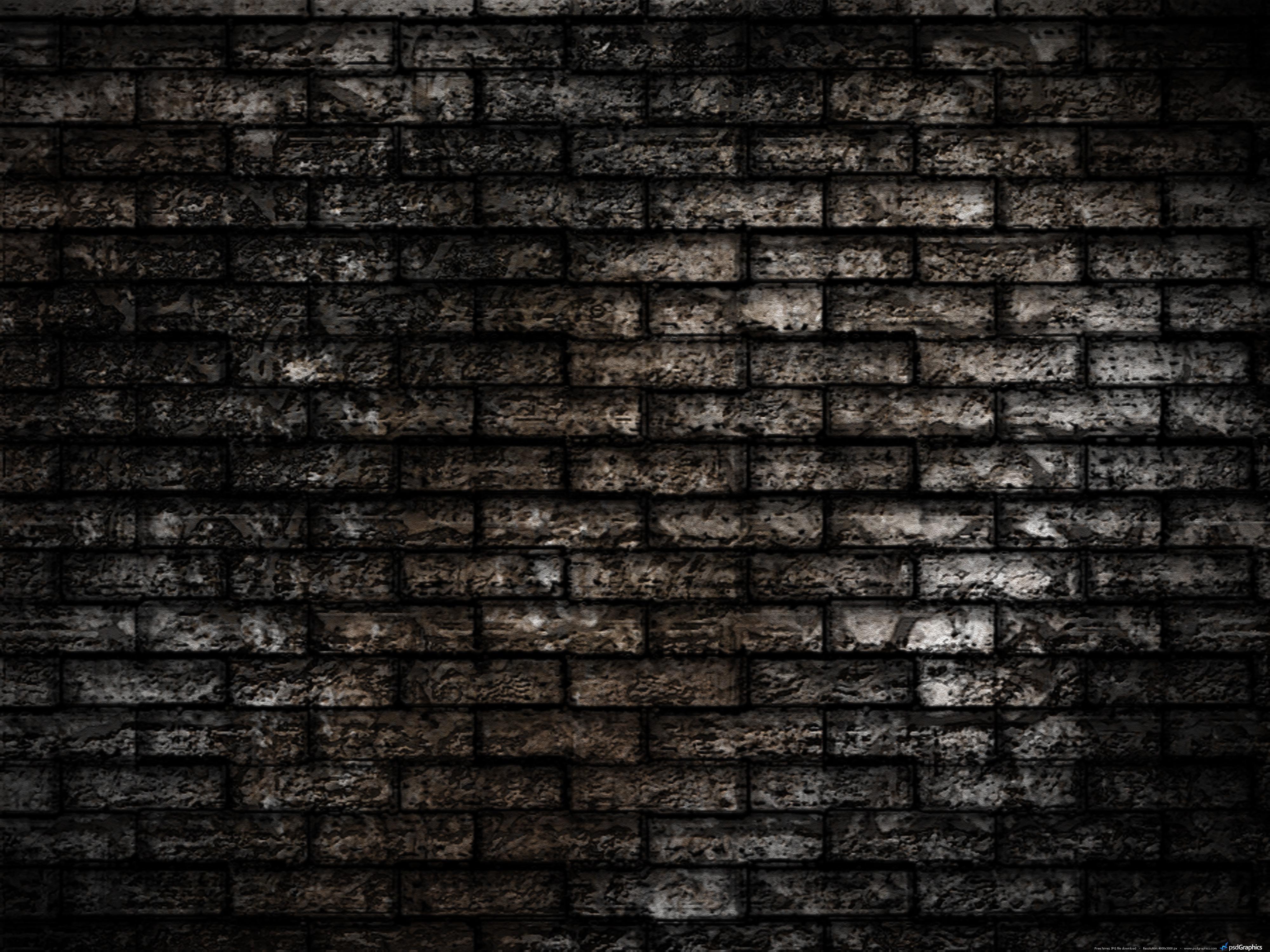 wall seamless brickwall background dark brick wall texture author psd 4000x3000