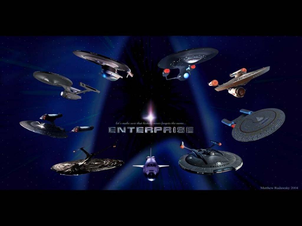 Star Trek Enterprise Starships History computer 1024x768