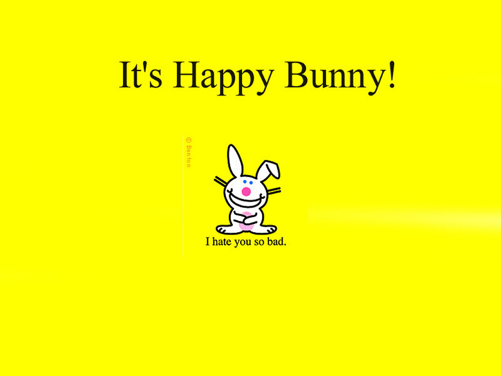 Happy Bunny   I Hate You TapetkyCZ   wallpapers 1024x768