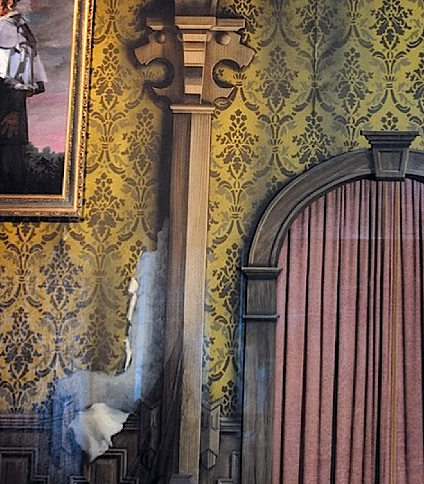 Haunted Mansion Wallpaper Curtains