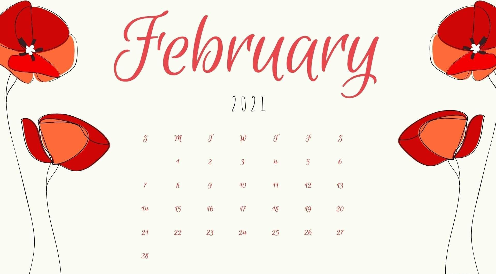 February 2021 Calendar HD Wallpaper Calendar wallpaper 2021