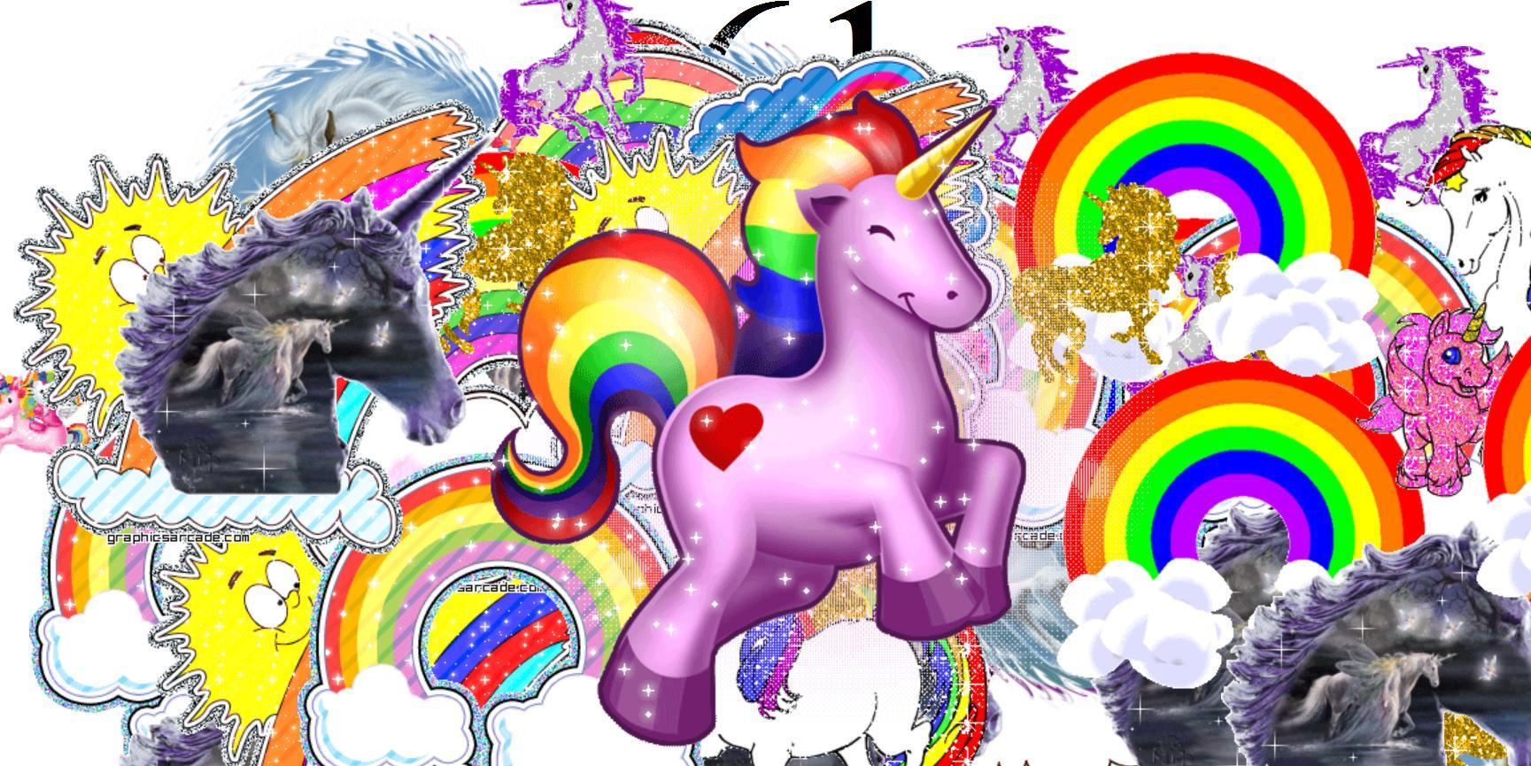 49+ Unicorn Rainbow Wallpapers on WallpaperSafari