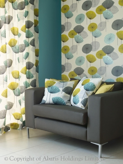 Wallpaper Dandelion Clocks Chaffinch Sandersons Wallpapers Fabrics 400x533