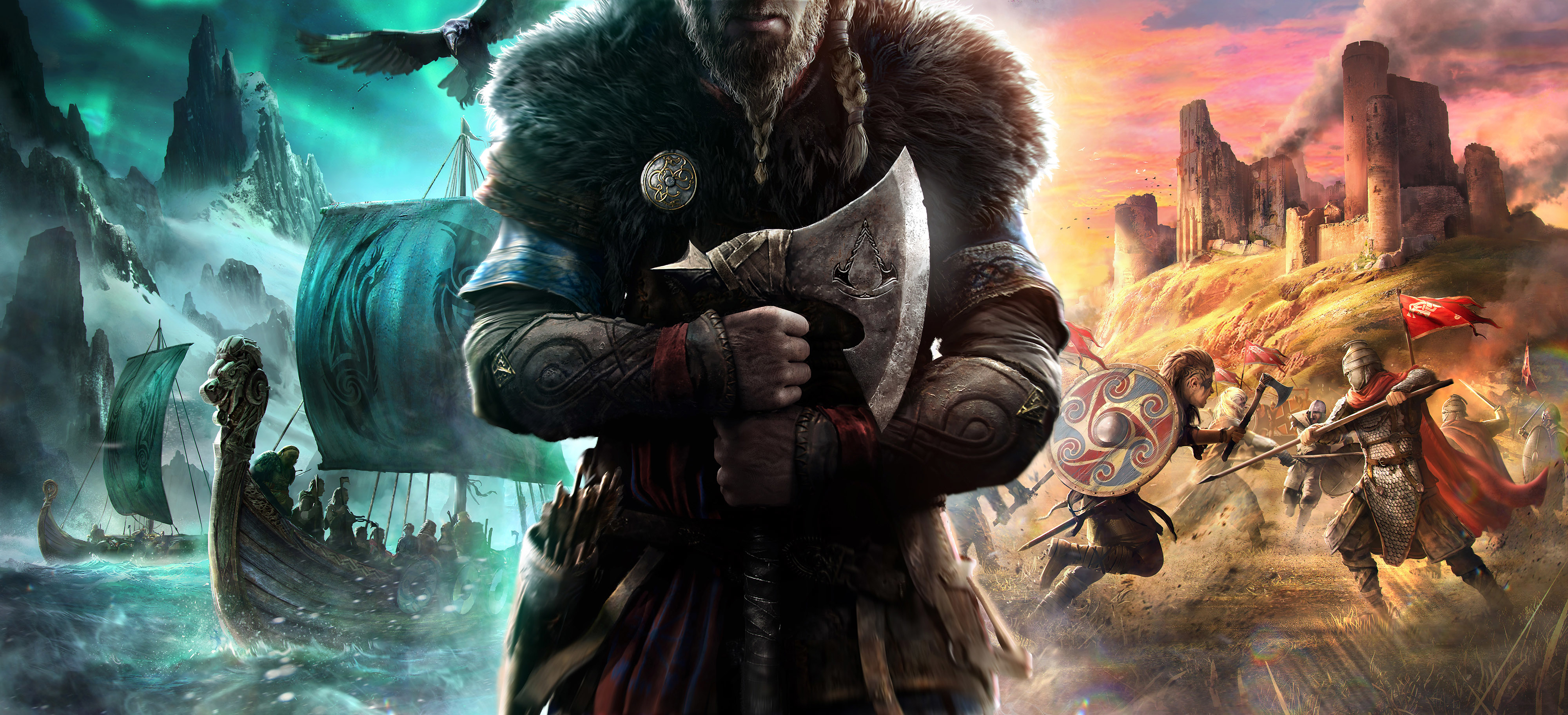Assassins Creed Valhalla 4K Wallpaper HD Games 4K Wallpapers 4000x1823