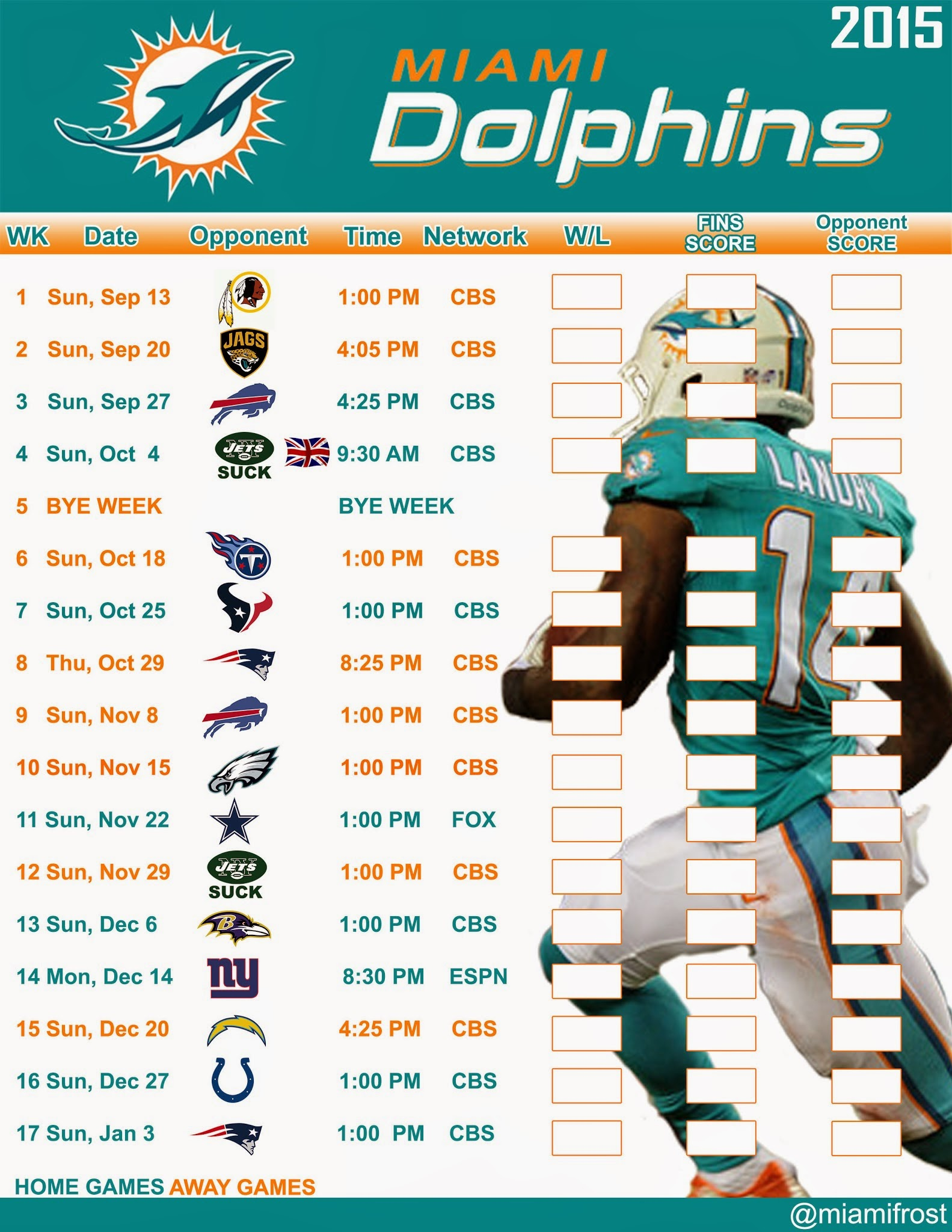 photograph about Miami Dolphins Printable Schedule called Free of charge obtain Miami Dolphins Printable Timetable Miami