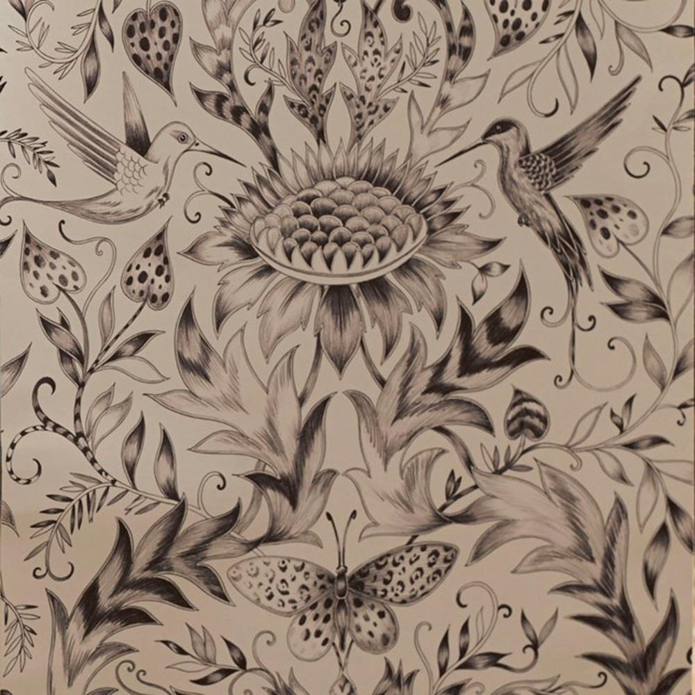 Paradisi Gold Bird Butterfly Motif Designer Floral Wallpaper 50 802 1000x1000