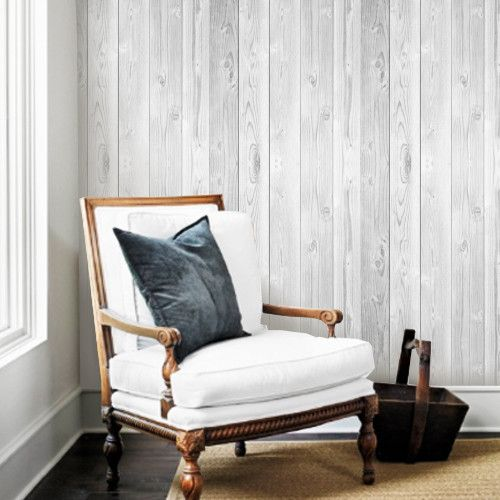 Vintage White Wood Removable Wallpaper 500x500