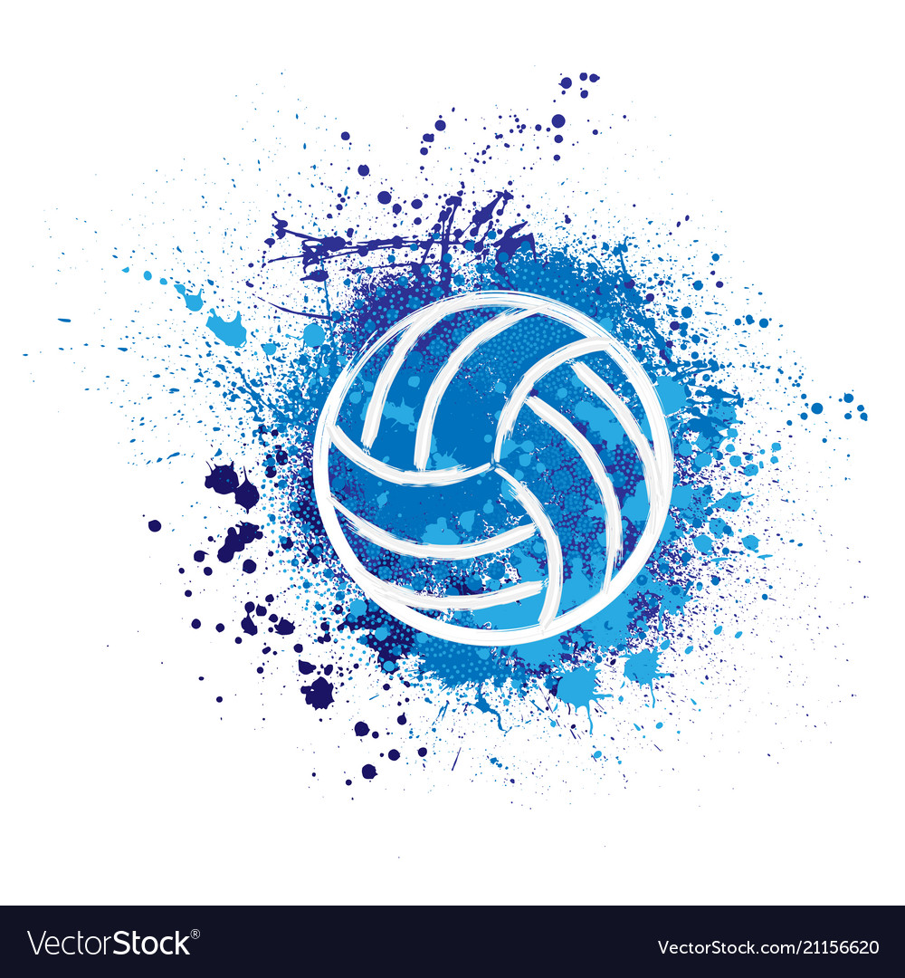 Volleyball grunge background Royalty Vector Image 1000x1080