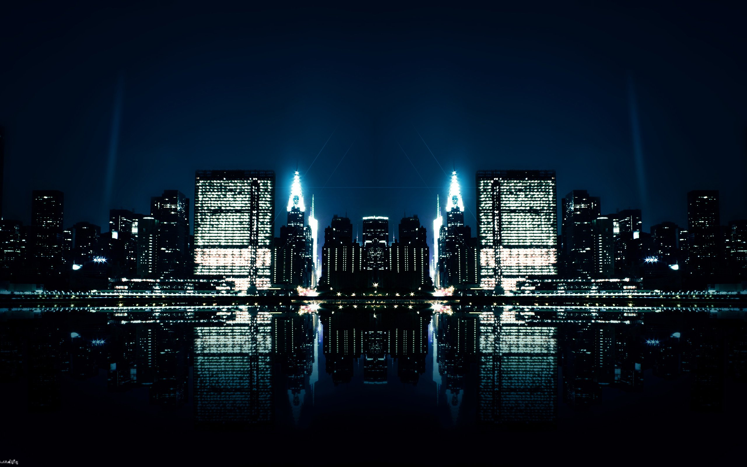 City Night Reflections Wallpapers HD Wallpapers 2560x1600