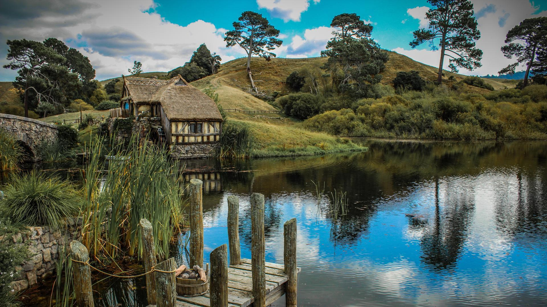 1920x1080 cabin lake ducks - photo #18