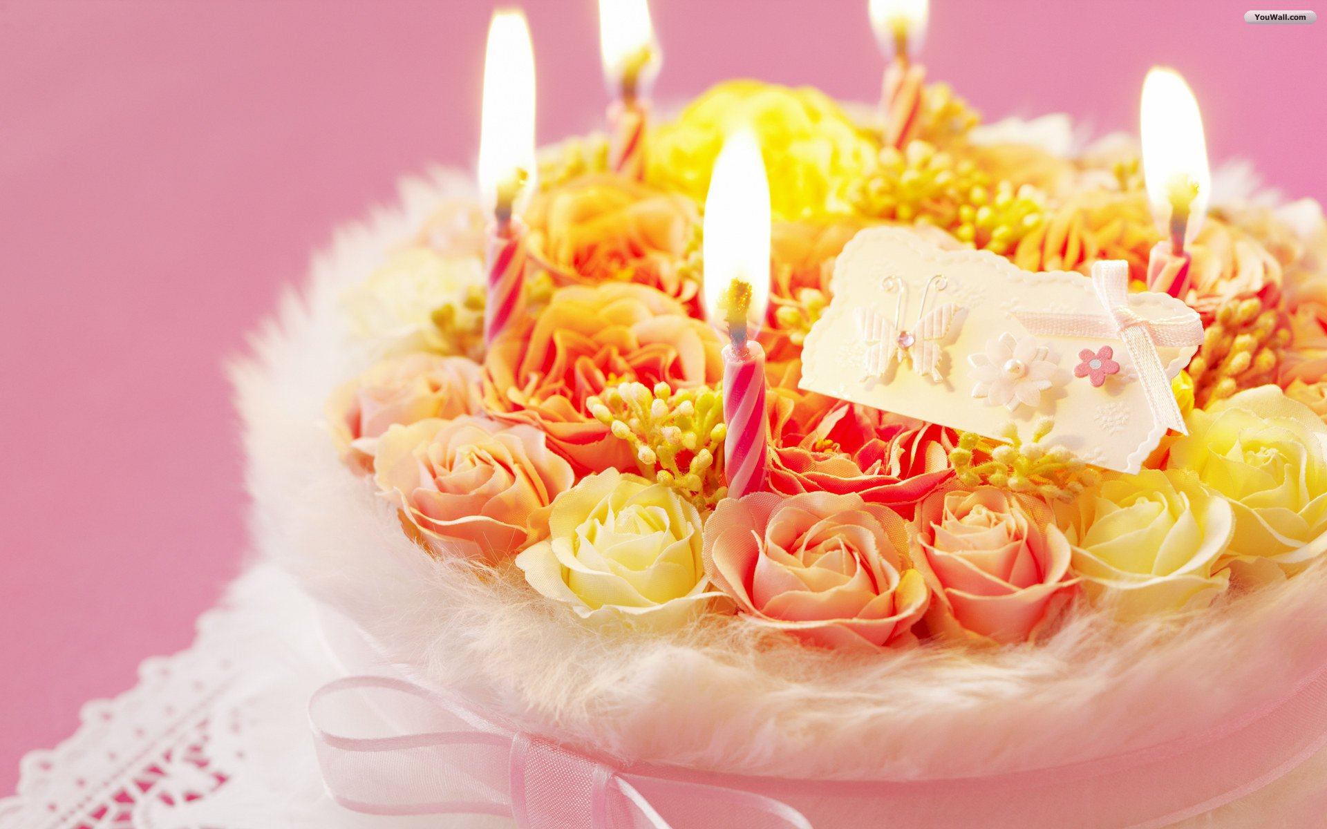 Cake Happy Birthday Wallpaper HD 1920x1200