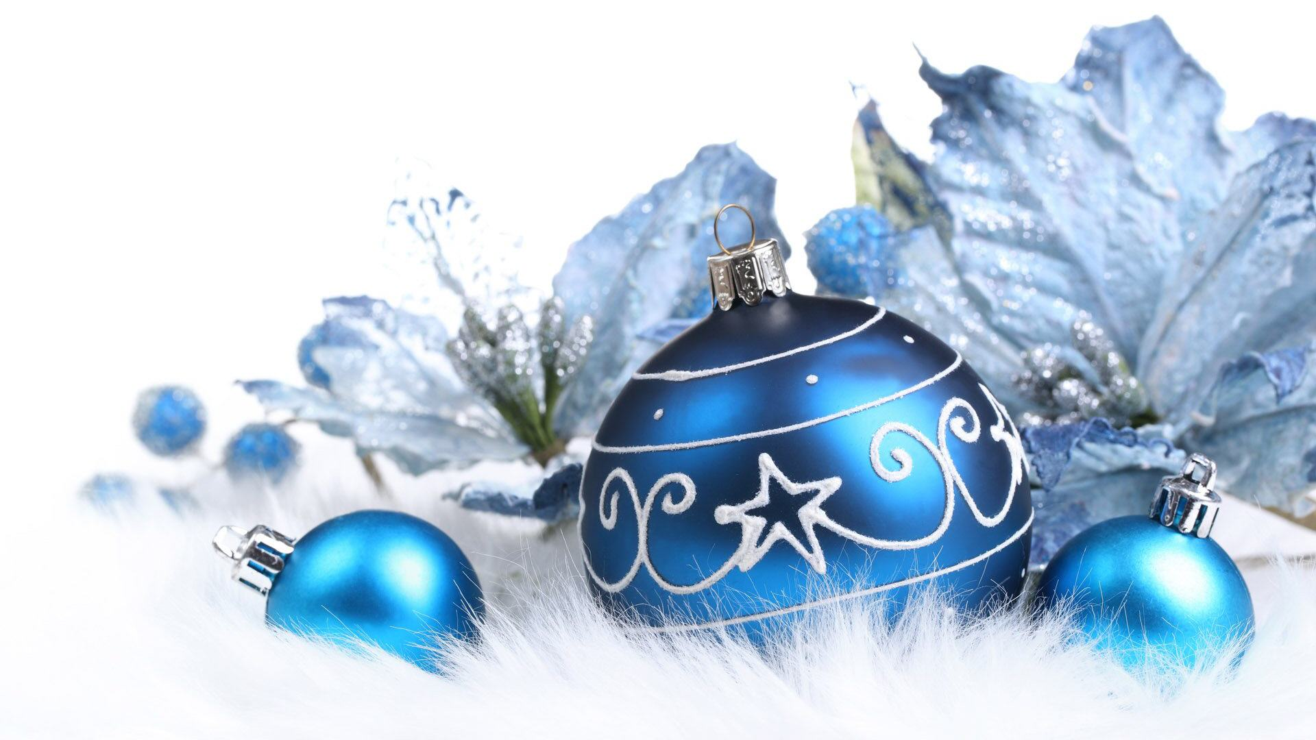 Christmas decorations wallpaper wallpaper Blue Christmas decorations 1920x1080