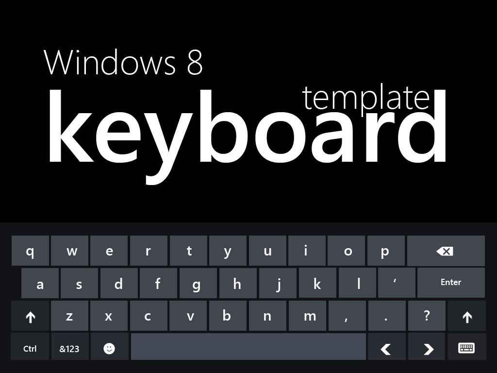Windows 8 Keyboard by MetroUI 1024x768