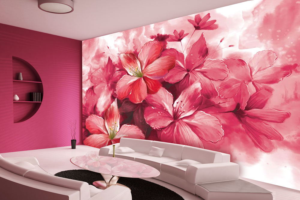 Trending Floral Wallpaper in Modern Home Decor Walls and Murals 1000x667