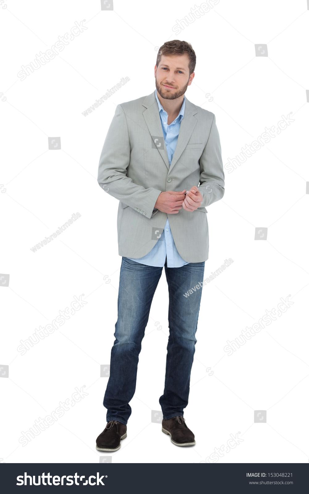 Suave Man Blazer Posing On White Stock Photo Edit Now 153048221 1001x1600