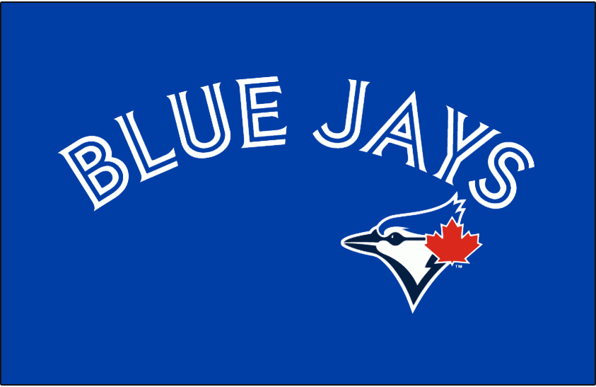 Toronto Blue Jays Jersey Logo 2012   Blue Jays arched in blue and 843x547