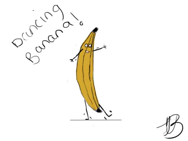 Dancing Banana by jjisthyname on deviantART 640x480