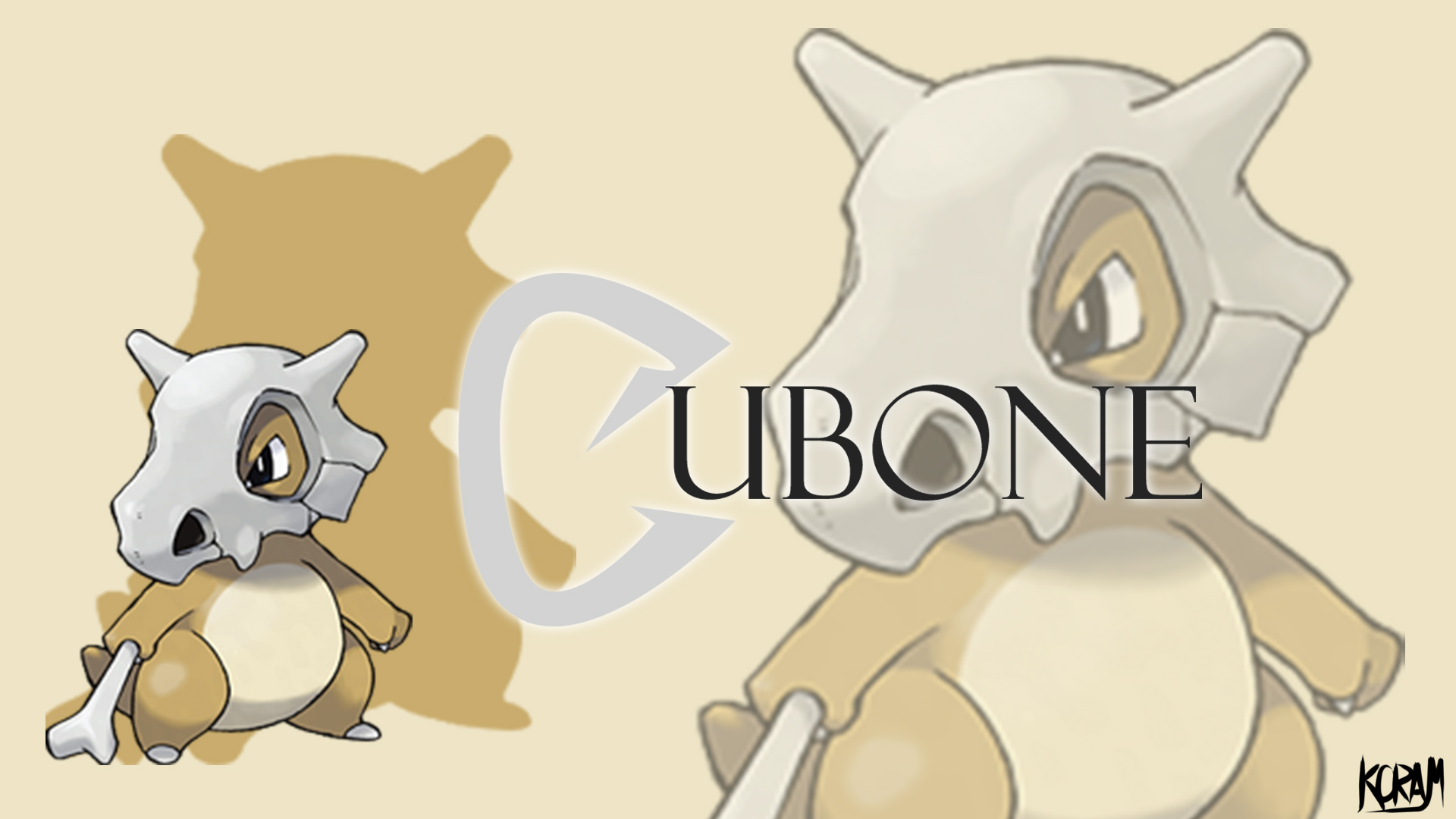 cubone the lonely warrior by koram0crow customization wallpaper photo 1920x1080